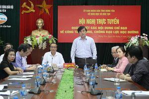 16.000 thầy cô giáo Hưng Yên họp trực tuyến về phòng chống bạo lực học đường