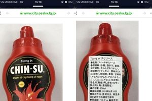 Hơn 18.000 chai tương ớt Chin-su bị thu hồi tại Nhật Bản