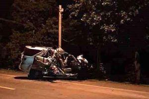 Ôtô tông trực diện xe tải trên QL20, 3 người tử vong