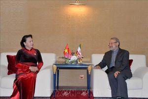 Chủ tịch Quốc hội Nguyễn Thị Kim Ngân hội kiến Chủ tịch Quốc hội Iran