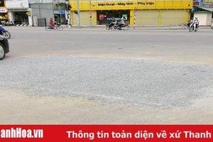 Hoàn tất việc sửa chữa, khắc phục điểm sụt lún gây mất an toàn giao thông trên đường Đội Cung (TP Thanh Hóa)