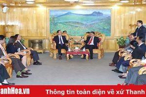 Đoàn đại biểu cấp cao tỉnh Thanh Hóa thăm, làm việc tại tỉnh Hủa Phăn (Lào)