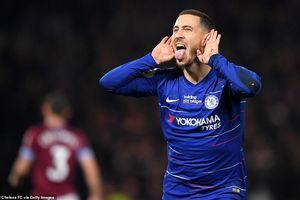 Hazard ghi tuyệt phẩm solo, Chelsea trở lại top 4