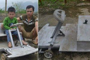 Không có tiền mua xe, ông bố Nghệ An hóa kỹ sư chế tạo 'xế hộp' tặng con trai