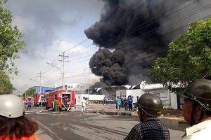 Cháy lớn trong Khu Công nghiệp Sóng Thần 2, Bình Dương