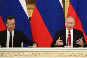 Bất ngờ trước thu nhập của Tổng thống Putin thu nhập ít hơn Thủ tướng Dmitry Medvedev
