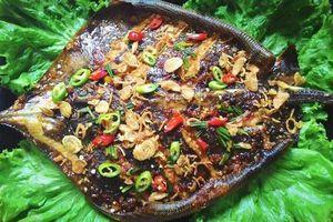 Cá đuối nướng sả nghệ: món ngon nhớ mãi không quên ở Cửa Đại