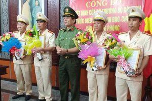 Công an Đà Nẵng công bố các Quyết định của Bộ Công an về công tác tổ chức cán bộ