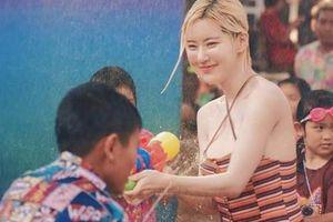 Danh tính bất ngờ của cô nàng chiếm spotlight tại lễ hội té nước Thái Lan