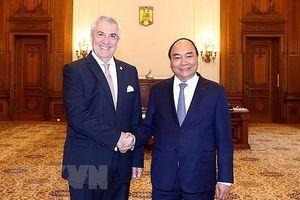 Thủ tướng Nguyễn Xuân Phúc hội kiến Chủ tịch Thượng viện Romania