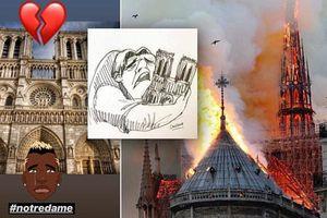 Giới cầu thủ cầu nguyện cho Nhà thờ Đức Bà Paris