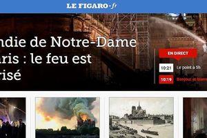 Vụ hỏa hoạn tại nhà thờ Đức Bà Paris tràn ngập báo chí thế giới