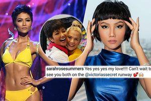 Hoa hậu Mỹ ủng hộ H'Hen Niê sải bước ở Victoria's Secret, fan chỉ nhắc điểm độc lạ này!