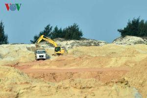 Quảng Bình xử phạt công ty khai thác cát trái phép hơn 100 triệu đồng