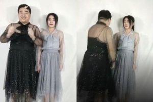Chụp ảnh bạn trai 90 kg mặc đồ nữ rồi đăng lên MXH, cô gái nhận phản ứng bất ngờ