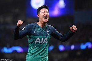 Son Heung Min lập kỳ tích sau chiến thắng nghẹt thở của Tottenham