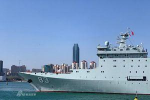 Tàu huấn luyện khủng nhất TQ có mặt ở Thành Đảo