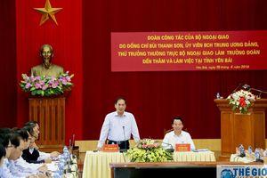 Bộ Ngoại giao đồng hành cùng Yên Bái trong công tác đối ngoại