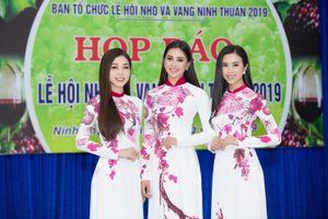Hoa hậu Tiểu Vy làm đại sứ Lễ hội Nho và vang Ninh Thuận 2019