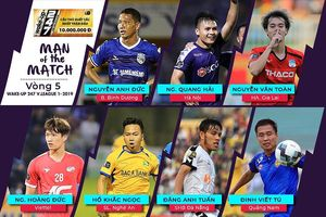 Vòng 5 V.League 2019: 100% cầu thủ xuất sắc nhất trận đấu là nội binh