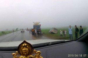 Thêm vụ tai nạn trên đường dẫn nối cao tốc Ninh Bình - Cầu Giẽ