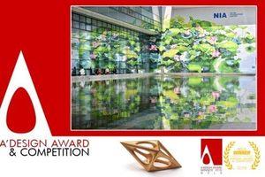 Tranh hoa sen ở Nội Bài đoạt huy chương vàng thiết kế quốc tế