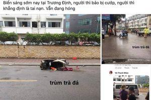 Danh tính người phụ nữ tử vong bên xe máy giữa phố Hà Nội