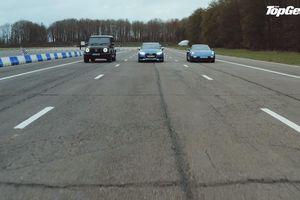 Mercedes G63 so tài với Audi RS3 và Cayman GTS