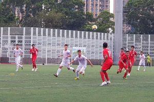 U.18 Việt Nam đánh bại Singapore nhờ bàn thắng duy nhất phút 89