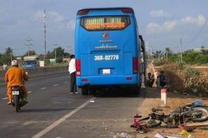Cặp vợ chồng bị xe khách tông tử vong thương tâm trên đường đi làm