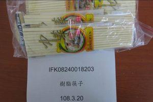 Đài Loan tiêu hủy 35.000 đôi đũa nhập khẩu từ Trung Quốc