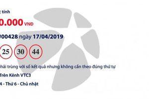 Kết quả Mega 6/45 Vietlott hôm nay (19/4/2019): Chờ người trúng 12 tỉ đồng
