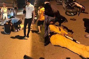 Thiếu tá CSGT bị tông gục giữa đường khi đang giữ xe vi phạm