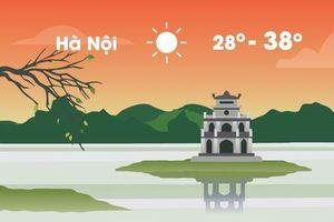 Thời tiết ngày 20/4: Hà Nội nắng nóng rất gay gắt, cao nhất 38 độ C