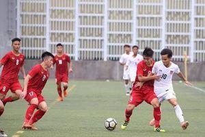 U18 Việt Nam và Myanmar chia điểm tại giải U18 Quốc tế Hồng Kông