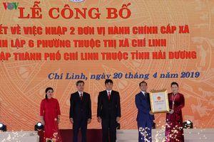 Lễ công bố Nghị quyết thành lập TP. Chí Linh, Hải Dương