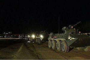 Hàng loạt thiết bị quân sự của Nga đổ về thủ đô Moscow