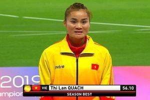 Quách Thị Lan giành HCV 400 m rào tại giải vô địch châu Á