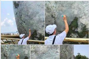 Bị 'ném đá' vì vẽ bậy tại Cầu Vàng, Đà Nẵng