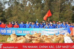 Gần 5.000 ĐVTN Hà Tĩnh hưởng ứng chiến dịch 'Hãy làm sạch biển'