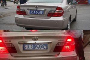 Ninh Bình tiến hành thu hồi hai biển xanh của xe công