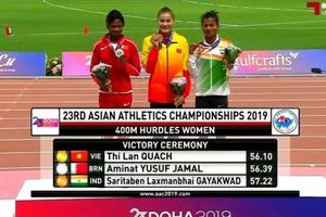 VĐV Quách Thị Lan giành HCV vượt rào 400 m nữ châu Á