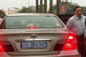 Vụ chủ tịch HĐND tỉnh Ninh Bình đi xe biển 80B: Thu hồi cả 2 xe biển xanh