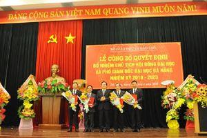 Công bố quyết định bổ nhiệm Chủ tịch Hội đồng Đại học và Phó Giám đốc ĐH Đà Nẵng