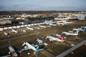 Hình ảnh Boeing 737 Max chất đống trong các kho bãi