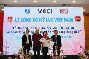 Lễ hội hoa Anh đào Nhật Bản xác lập Kỷ lục Việt Nam