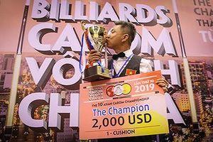 Mã Minh Cẩm vô địch nội dung 1 băng giải billiards carom châu Á 2019