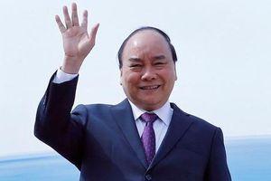Thủ tướng Nguyễn Xuân Phúc lên đường tham dự Diễn đàn cấp cao hợp tác 'Vành đai và Con đường'