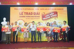 Bia Hà Nội trao Giải thưởng khuyến mại 2019 'Mở nắp trúng Vàng'