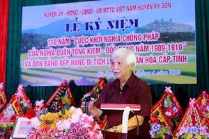 Hòa Bình:Kỉ niệm 110 năm Cuộc khởi nghĩa Tổng Kiêm - Đốc Bang
